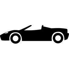 Auto muursticker: 10244 - Raceauto opzij