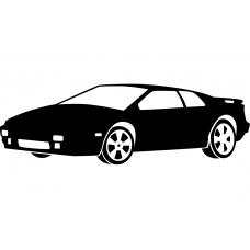 Auto muursticker: 10252 - Supercar sportwagen klassiek spoiler