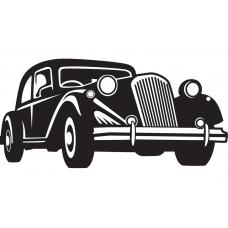 Auto muursticker: 10253 - Supercar klassieke auto