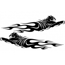Auto striping muursticker: 10255 - Auto striping tijger