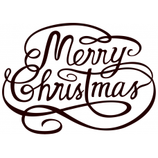 Kerst muursticker: 10190 - Merry Christmas tekst