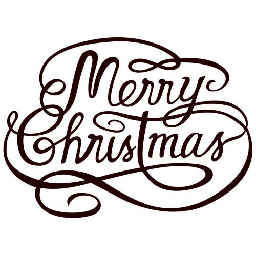 Muursticker 10190 Merry Christmas Tekst Muursticker