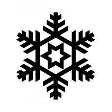 Kerst muursticker: 10203 - Sneeuwvlok ster