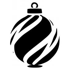 10206 - Kerstbal gestreept