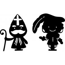 10184 - Grappige Sinterklaas met Piet