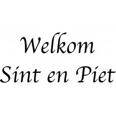 10189 - Welkom Sint en Piet tekst