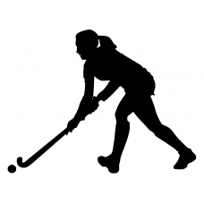 Hockey muursticker: 10150 - Hockey meisje links