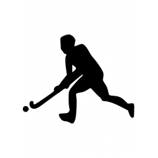 Sport muursticker: 10151 - Hockey jongen links