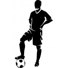 Voetbal muursticker: 10153 - Man met voetbal detail