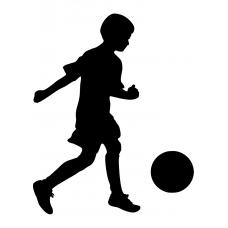 Voetbal muursticker: 10155 - Voetballend jongetje