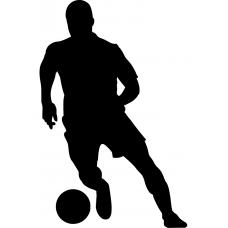 Voetbal muursticker: 10156 - Voetballer voren rechts