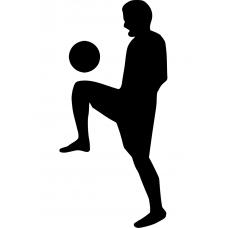 Voetbal muursticker: 10157 - Voetbal hooghouden