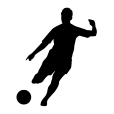 Voetbal muursticker: 10159 - Voetbal trappen
