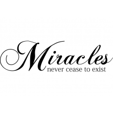 Spiritueel muursticker: 10272 - Miracles never cease to exist