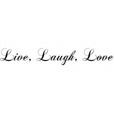 Teksten muursticker: 10274 - Live, laugh, love