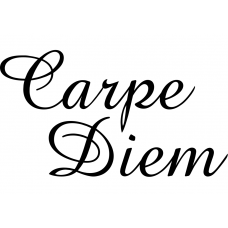 Teksten muursticker: 10275 - Carpe Diem