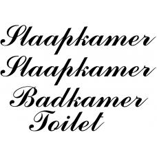 Teksten muursticker: 10279 - Slaapkamer Badkamer Toilet - Rivièra Maison