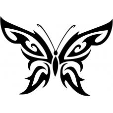 Dieren muursticker: 10220 - Tribal vlinder
