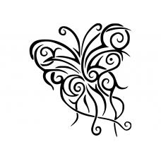 10221 - Tribal sierlijke vlinder