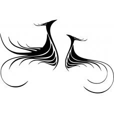 10222 - Tribal twee vogels